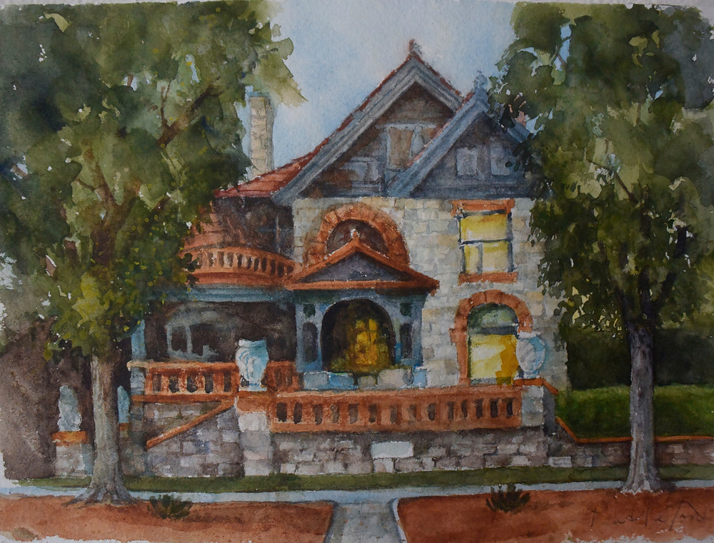 Molly Brown House Watercolor Painting by Dennis Pendleton