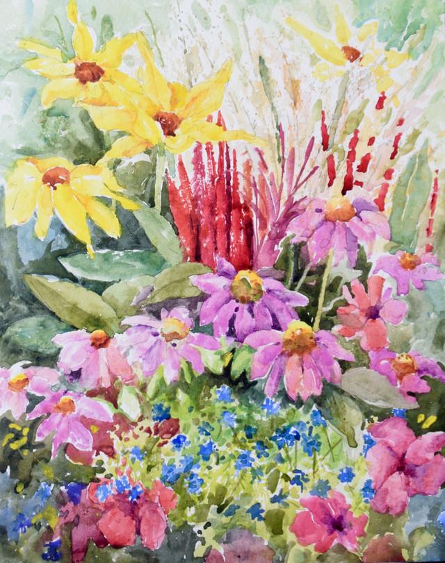 Denver Botanic Gardens Watercolor Painting
