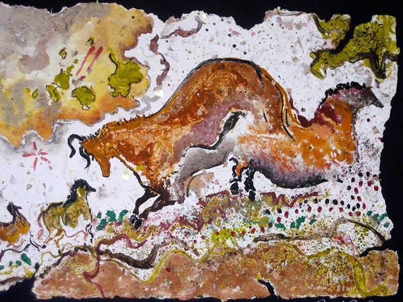 Ancient Spirits Watercolor Painting