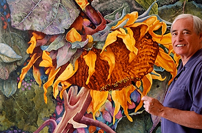 Large Florals Watercolor Paintings by Dennis Pendleton