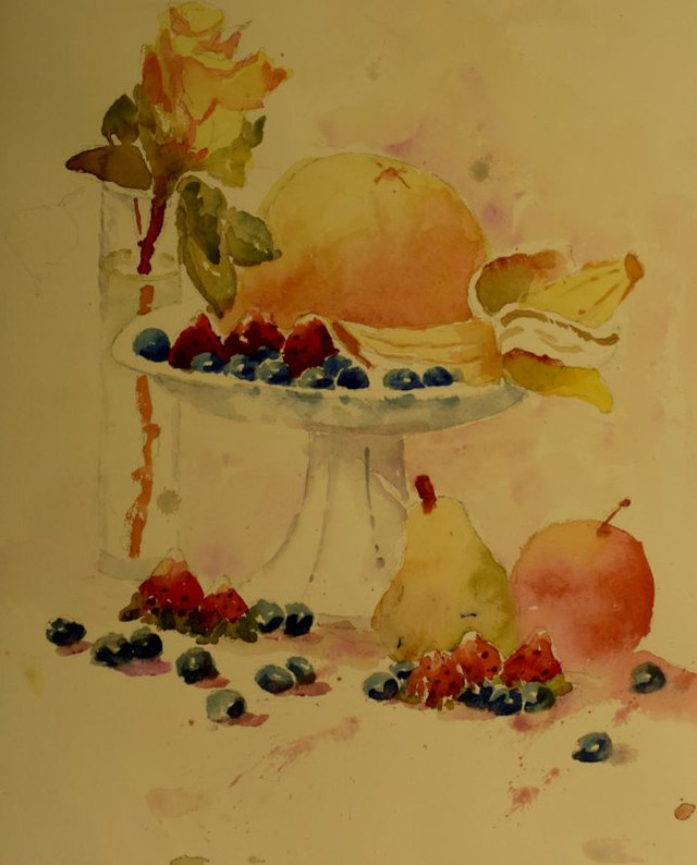 Still Life Watercolor Painting