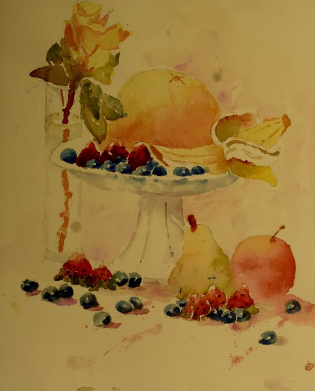Still Life Watercolor Painting by Dennis Pendleton