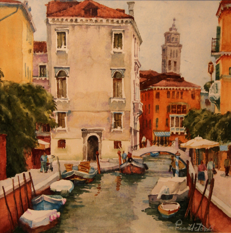 Venice Watercolor Painting by Dennis Pendleton