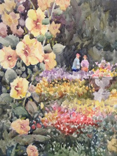 Botanic Gardens Watercolor Painting by Dennis Pendleton