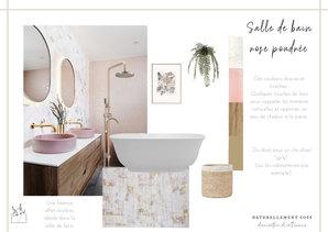 Planche salle de bain rose