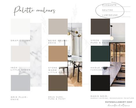 Palette couleurs sélection style contemporain