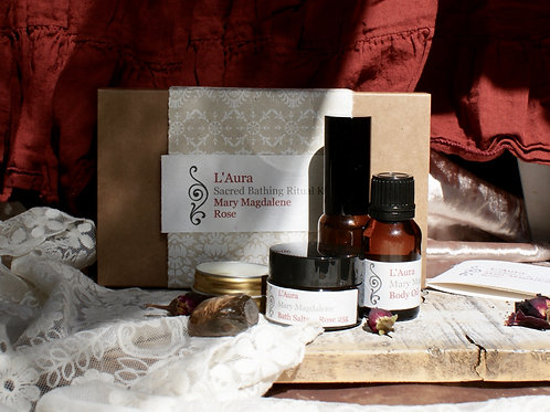 L'Aura Sacred Bathing Ritual Mini Kit ~ Rose