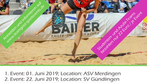 Start der Beach Tennis Tour 2019