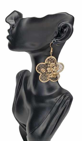 Roses are Gold Earrings