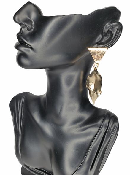 Gold Windy Leaf Earrings