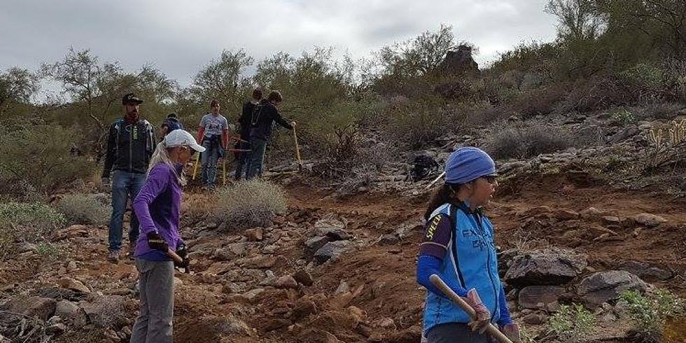 Year End Closeout Estrella Trail Work Day