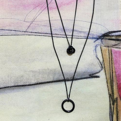 Necklace Infinity Knot Hematite