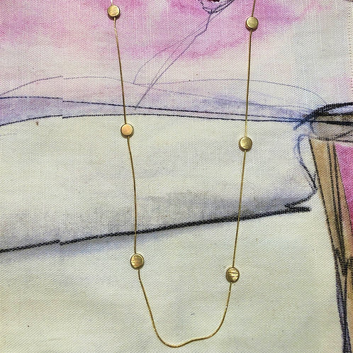 Necklace Vanity Gold Dot