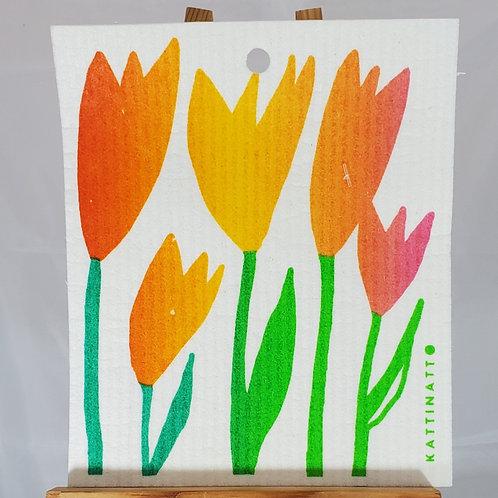 Swedish Dishcloth - Tulips