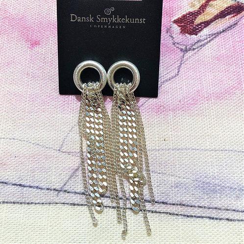 Earring Infinity Chain Silver