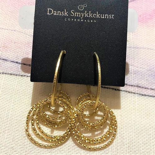 Earring Alyssa Multi Ring Hoops Gold