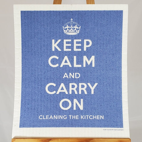 Swedish Dishcloth - Keep Calm and Carry On