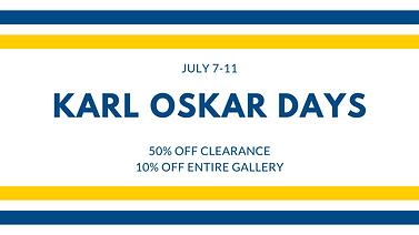 Karl Oskar Days Sale Poster, Clearance, Lindstrom, Minnesota