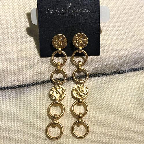 Earring Amber Long Gold