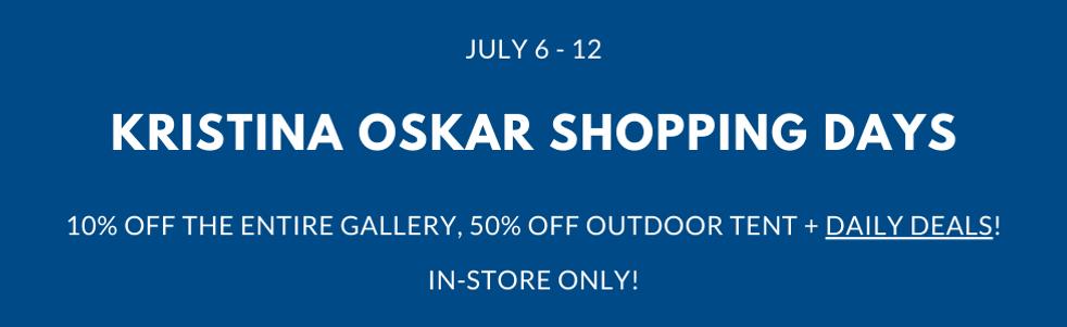 Kristina Oskar Shopping Days Gustafs Up North Gallery