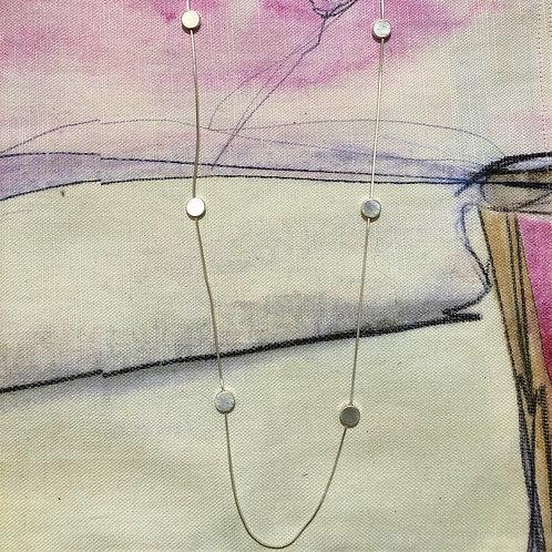 Necklace Vanity Silver Dot