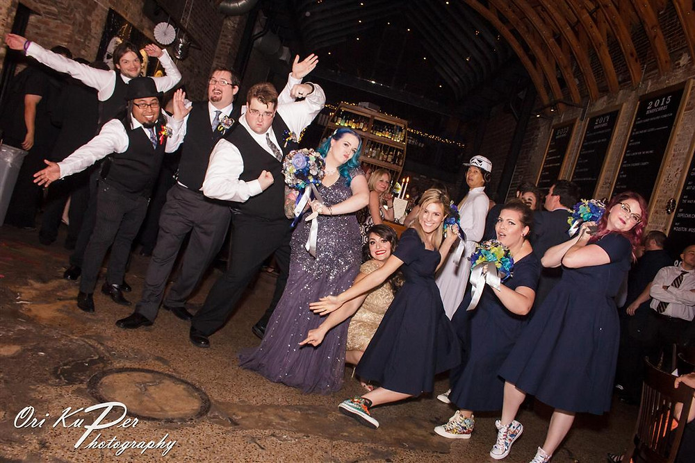 The show must go on! Even if it's not a super-crazy-fun-halloween-star wars-themed wedding.