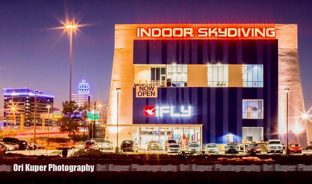 iFLY Houston Memorial night shot by Ori Kuper