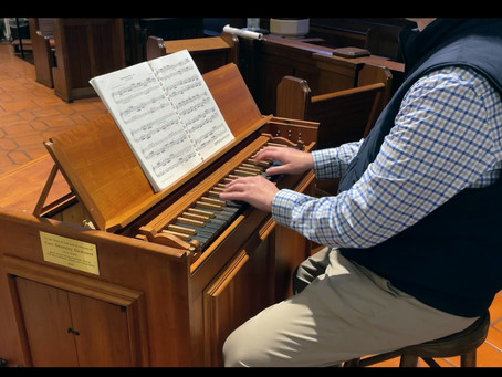 Continuo organ brings first sound of new pipes