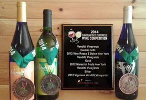 Award Wining Wines - Venditti Vineyards