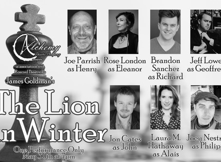 """REVIEW: """"The Lion In Winter"""" - A Virtual Performance by Alchemy Theatre Company"""