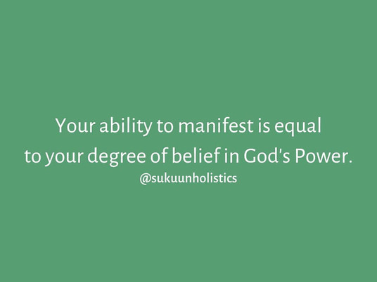 Manifestation & Belief