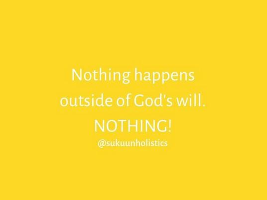 Nothing but God