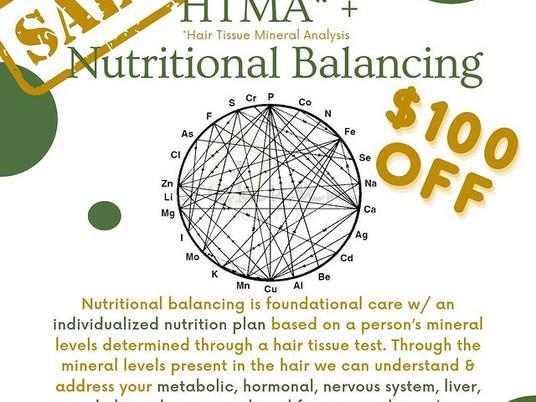 💥$100 OFF HTMA + Nutritional Balancing💥