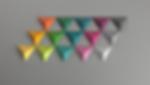 TRIDO@ magnetic toy.1/2 Tetrahedron shape.