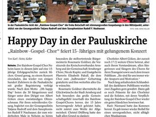 Happy Day in der Pauluskirche