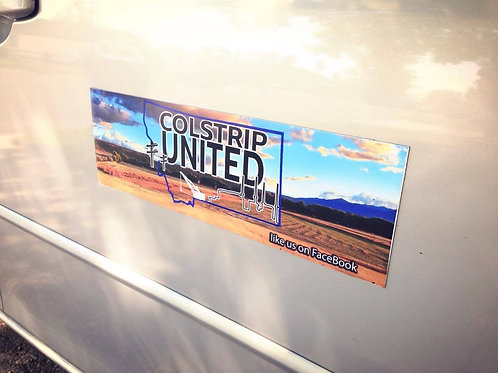 COLSTRIP UNITED CAR MAGNET