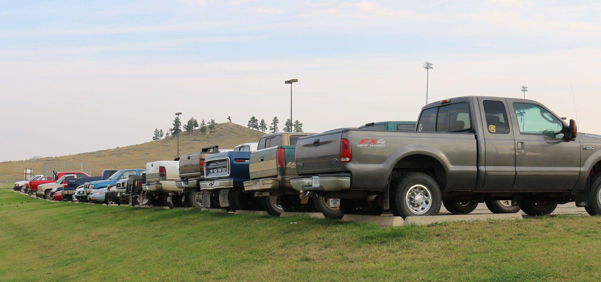 High School Parking Lot