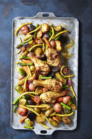 Rustic Smoky Glazed Chicken & Veggie Bake (serves 4)