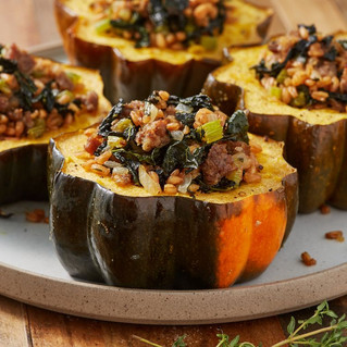 Stuffed Acorn Squash (serves 6)