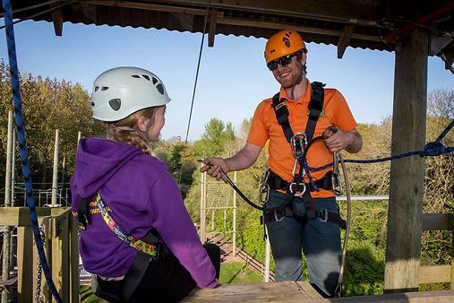 Zip Wire at Valley Adventure Centre Jersey