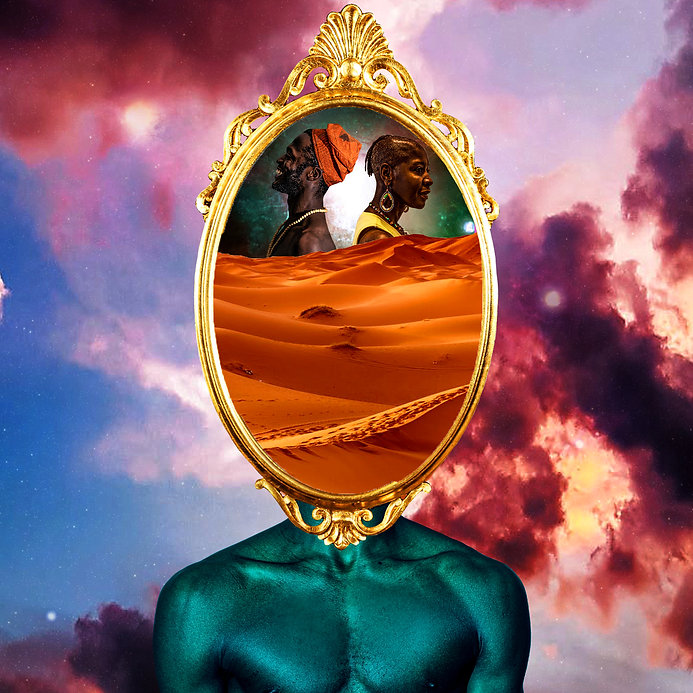 Afro, Afro-futurism, Collage