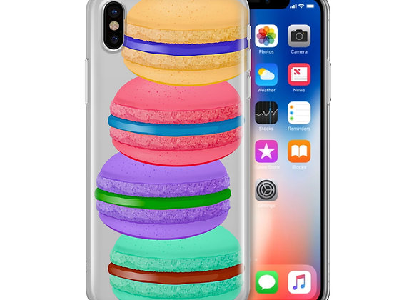 Stacked Macaron - Clear Phone Case
