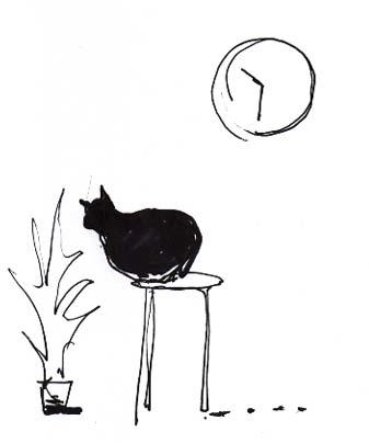 猫の風景(エッセイ挿絵)