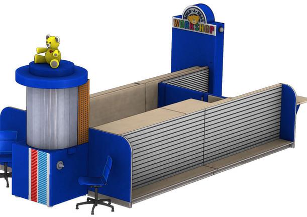 Build a Bear Kiosk Rendering