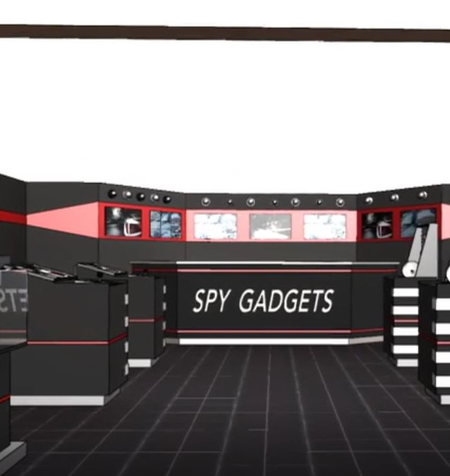 Spy Gadgets full store concept