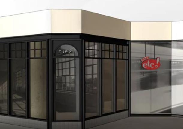 Rue 21 storefront rendering