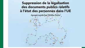 Suppression de légalisation pour certains documents publics dans l'Union européenne