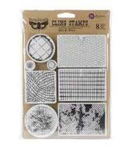 Finnabair Cling Stamp - Net And Wire