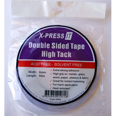 6mm or 12mm High Tack Double Sided Adhesive