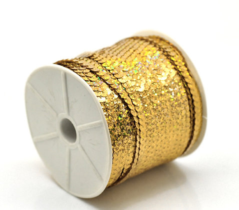 Gold Nugget - Sequin Trim 5m lots